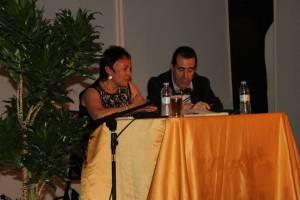 """Carlos de Tomás con Esther Aparicio, presentación """"Hasta que regresemos a las estrellas"""" en el Centro Cultural Blas de Otero"""