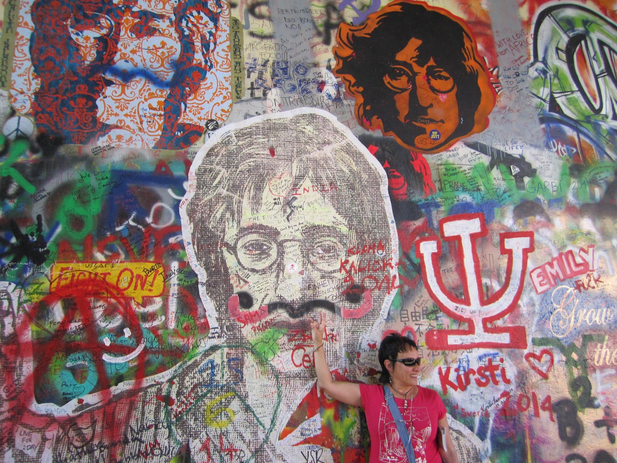 Muro de Lennon Praga, 2014